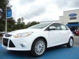 2012 White Platinum Tricoat Metallic Ford Focus SEL 5-Door #56789269