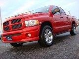 2004 Flame Red Dodge Ram 1500 SLT Sport Quad Cab 4x4 #56789250