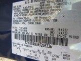 2006 Mustang Color Code for Vista Blue Metallic - Color Code: G9