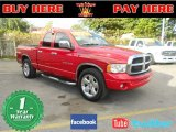 2002 Flame Red Dodge Ram 1500 SLT Quad Cab #56789633