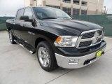 2010 Brilliant Black Crystal Pearl Dodge Ram 1500 Big Horn Crew Cab 4x4 #56789419