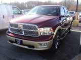 2012 Deep Cherry Red Crystal Pearl Dodge Ram 1500 Laramie Longhorn Crew Cab 4x4 #56789552