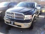 2012 Black Dodge Ram 1500 Laramie Longhorn Crew Cab 4x4 #56789550
