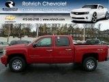 2009 Victory Red Chevrolet Silverado 1500 LT Crew Cab 4x4 #56828157