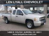 2009 Silver Birch Metallic Chevrolet Silverado 1500 LS Extended Cab #56827638