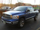 2008 Electric Blue Pearl Dodge Ram 1500 Big Horn Edition Quad Cab 4x4 #56828059