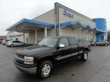 2002 Onyx Black Chevrolet Silverado 1500 LS Extended Cab 4x4 #56828048