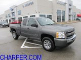 2011 Steel Green Metallic Chevrolet Silverado 1500 LS Extended Cab 4x4 #56827532
