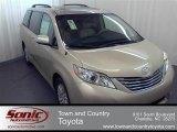 2012 Sandy Beach Metallic Toyota Sienna XLE #56874019