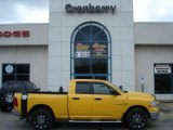 2009 Detonator Yellow Dodge Ram 1500 SLT Quad Cab 4x4 #56873703