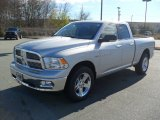 2012 Bright Silver Metallic Dodge Ram 1500 Big Horn Quad Cab 4x4 #56874153