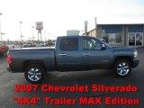 2007 Blue Granite Metallic Chevrolet Silverado 1500 LTZ Crew Cab 4x4 #56935550