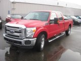 2012 Vermillion Red Ford F250 Super Duty XLT Crew Cab #56935290