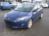 2012 Sonic Blue Metallic Ford Focus Titanium Sedan #56935289