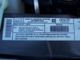 2002 Chevrolet Astro AWD Commercial Van Info Tag