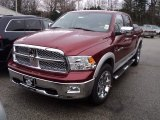 2012 Deep Cherry Red Crystal Pearl Dodge Ram 1500 Laramie Crew Cab 4x4 #56935443