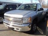 2012 Silver Ice Metallic Chevrolet Silverado 1500 LS Regular Cab 4x4 #56935438