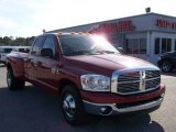 2008 Inferno Red Crystal Pearl Dodge Ram 3500 Big Horn Edition Quad Cab Dually #5684733