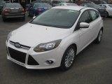 2012 White Platinum Tricoat Metallic Ford Focus Titanium 5-Door #57001346