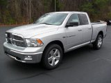 2012 Bright Silver Metallic Dodge Ram 1500 Big Horn Quad Cab 4x4 #57001456