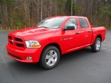 2012 Flame Red Dodge Ram 1500 Express Crew Cab 4x4 #57001451