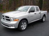 2012 Bright Silver Metallic Dodge Ram 1500 Express Quad Cab 4x4 #57001449