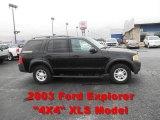 2003 Black Ford Explorer XLS #57034630
