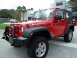 2010 Flame Red Jeep Wrangler Rubicon 4x4 #57033954