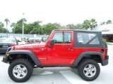 2010 Jeep Wrangler Flame Red