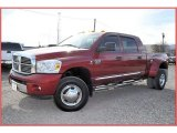 2007 Inferno Red Crystal Pearl Dodge Ram 3500 Laramie Mega Cab 4x4 Dually #57034278