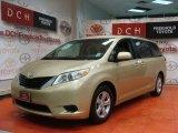 2011 Sandy Beach Metallic Toyota Sienna LE #57034545