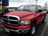 2003 Dark Garnet Red Pearl Dodge Ram 1500 SLT Quad Cab 4x4 #57034527