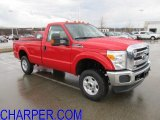 2012 Vermillion Red Ford F250 Super Duty XLT Regular Cab 4x4 #57033833