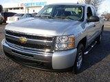 2011 Sheer Silver Metallic Chevrolet Silverado 1500 LS Extended Cab 4x4 #57033824