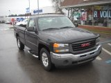 2005 Carbon Metallic GMC Sierra 1500 Work Truck Regular Cab 4x4 #57034208