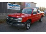 2004 Victory Red Chevrolet Silverado 1500 LS Regular Cab 4x4 #57034205