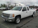 2012 Summit White Chevrolet Silverado 1500 LT Extended Cab 4x4 #57034457