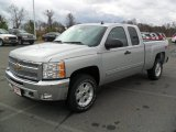 2012 Silver Ice Metallic Chevrolet Silverado 1500 LT Extended Cab 4x4 #57034456