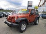 2011 Mango Tango Pearl Jeep Wrangler Sport S 4x4 #57034191