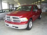 2010 Inferno Red Crystal Pearl Dodge Ram 1500 Big Horn Crew Cab #57034447
