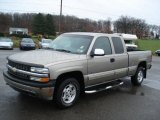 2001 Sunset Gold Metallic Chevrolet Silverado 1500 LS Extended Cab 4x4 #57034177