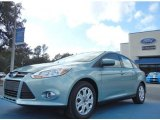 2012 Frosted Glass Metallic Ford Focus SE Sedan #57034122