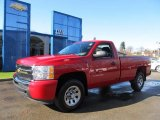 2010 Victory Red Chevrolet Silverado 1500 Regular Cab 4x4 #57034110
