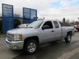 2012 Silver Ice Metallic Chevrolet Silverado 1500 LT Extended Cab 4x4 #57034107