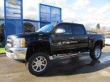 2012 Black Chevrolet Silverado 1500 LT Crew Cab 4x4 #57034106