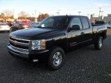 2011 Black Chevrolet Silverado 1500 LT Extended Cab 4x4 #57095315