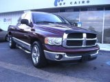 2003 Dark Garnet Red Pearl Dodge Ram 1500 SLT Quad Cab #57095217