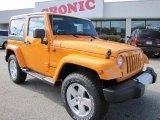 2012 Dozer Yellow Jeep Wrangler Sahara 4x4 #57094902