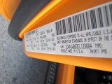2012 Wrangler Color Code for Dozer Yellow - Color Code: PY5