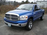 2008 Electric Blue Pearl Dodge Ram 1500 Big Horn Edition Quad Cab 4x4 #57094452